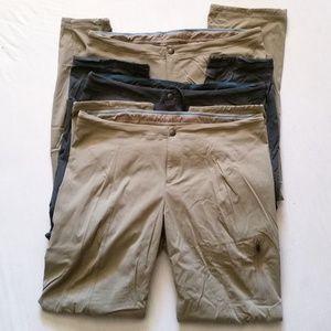 (3) Columbia Omni-Shield Advanced Repellency Pants